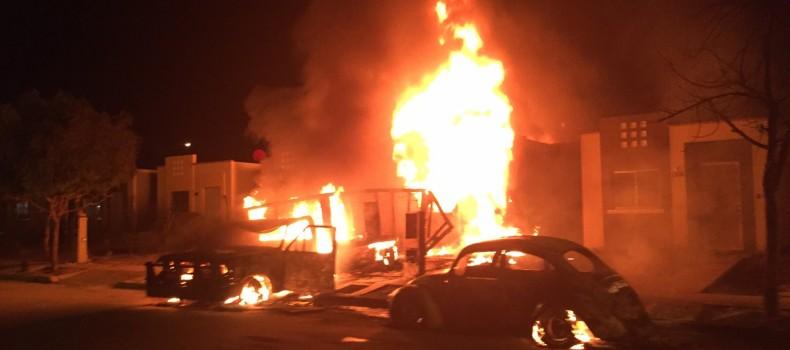 Se deslindan autoridades municipales de explosiones de gasolina