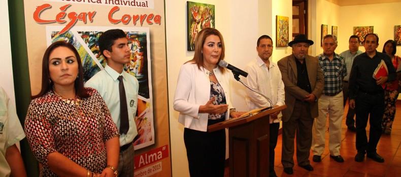 """Inauguran """"Jardines del Alma"""" en el Centro Cultural del COBAES Rosales"""