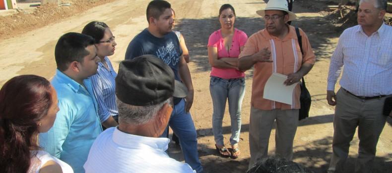 Levantarán censo de los comerciantes afectados por obra de la calle Inglaterra en La Gloria.