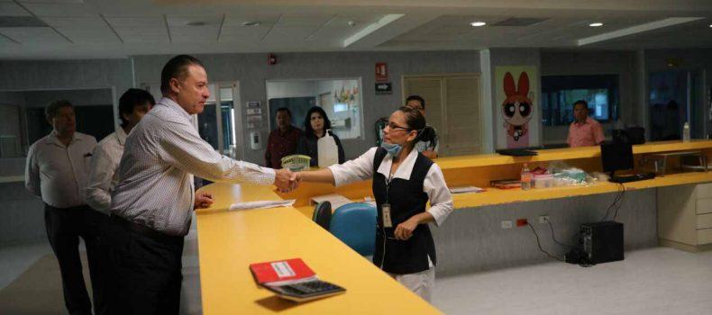 Garantiza Quirino Ordaz el tratamiento a pacientes del Hospital Pediátrico de Sinaloa