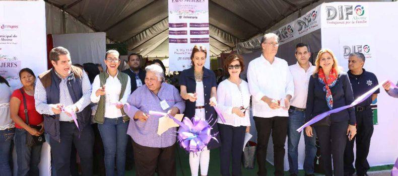 Inaugura Rosy Fuentes Expo Mujeres Ahome 2018
