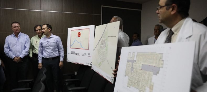 Anuncia Quirino construcción de un nuevo y moderno Hospital General de Culiacán