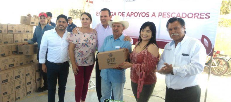 ENTREGAN MIL 62 DESPENSAS ALIMENTICIAS A PESCADORES DE LA REFORMA, ANGOSTURA