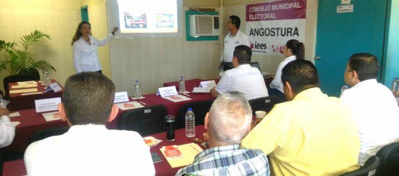 BUSCA CONSEJO ELECTORAL DE ANGOSTURA PREVENIR CONFLICTOS DURANTE CAMPAÑA