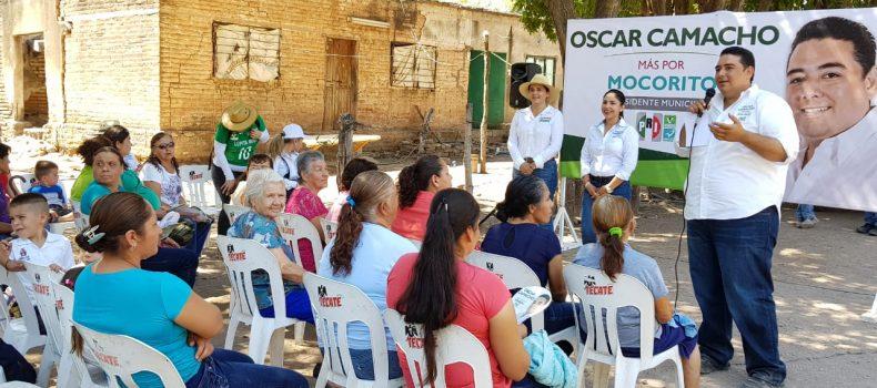 LA SIERRA DE MOCORITO ABRAZA EL PROYECTO DE ÓSCAR CAMACHO
