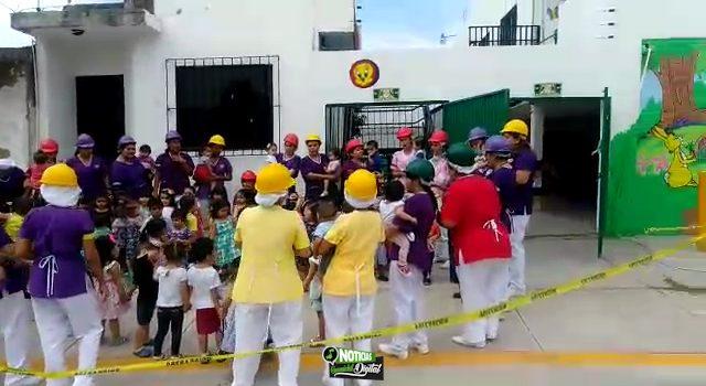 FORTALECEN CON SIMULACRO EN GUADERIA CULTURA DE PROTECCION CIVIL