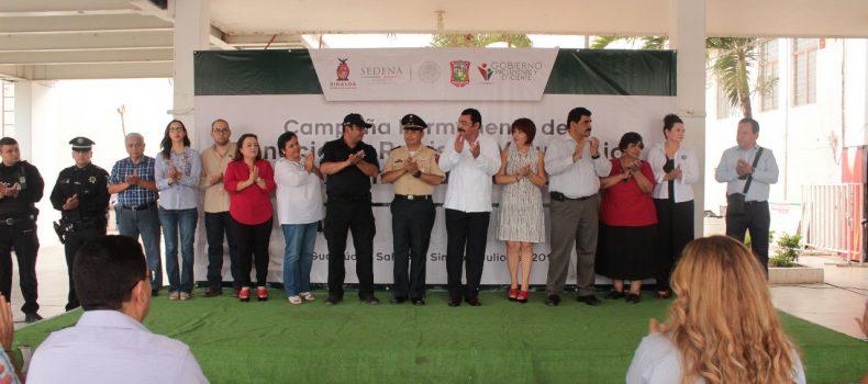 Arranca Campaña Permanente de Donación de armas en Salvador Alvarado.