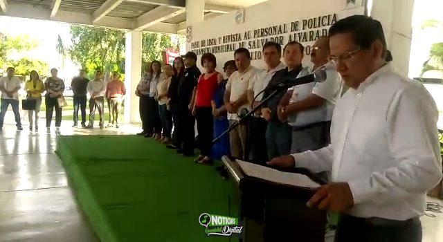 REFRENDAN LEALTAD POLICÍA MUNICIPAL CON EL ALCALDE CARLO MARIO ORTIZ SÁNCHEZ