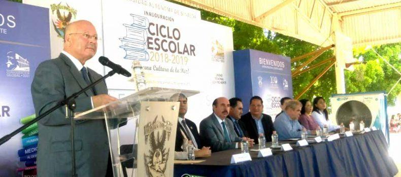CONFÍA RECTOR JUAN EULOGIO GUERRA QUE LE IRA BIEN EN LA UAS CON AMLO
