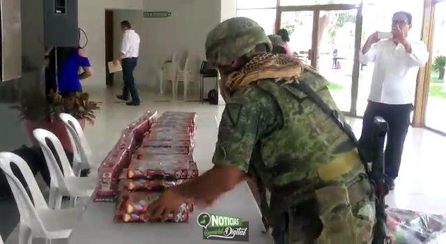 CANJEA SEDENA JUGUETES DIDÁCTICOS POR REPLICAS DE JUGUETES DE ARMAS DE FUEGO