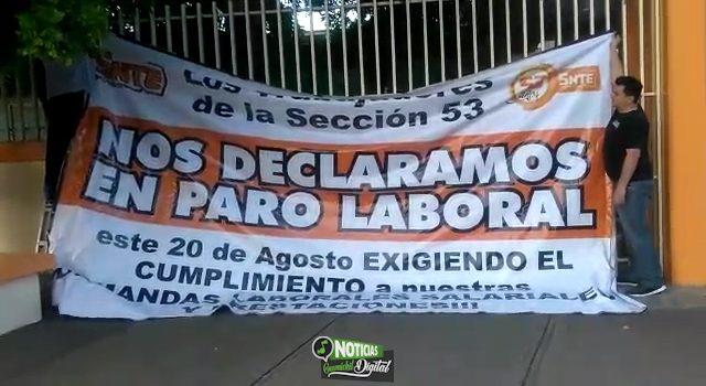MAESTROS DE LA SECCIÓN 27 SI ASISTIERON A LAS AULAS: ALCALDE LAMENTA PARO DE LA 53