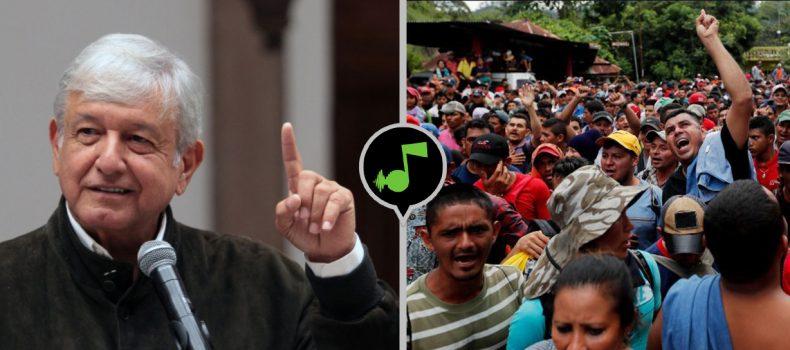 AMLO empleará a migrantes en construcción de Tren Maya