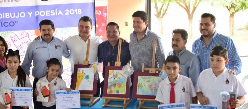 Premian a los ganadores del Concurso de Dibujo y Poesía 2018