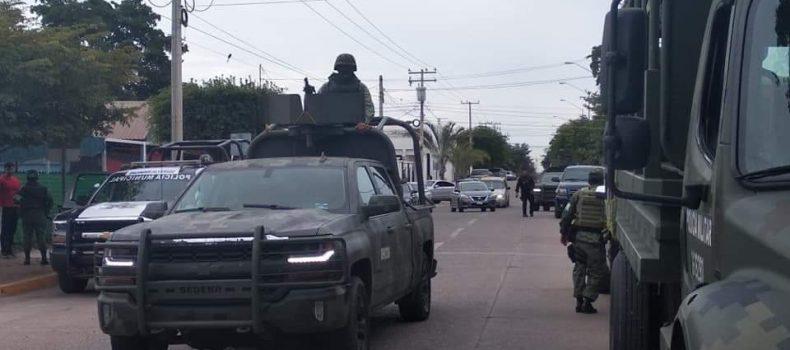 REFORZARÁN SEGURIDAD EN GUAMÚCHIL CON APOYO DEL EJÉRCITO, MARINA Y POLICÍA ESTATAL