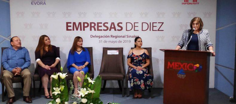RECONOCE INFONAVIT A DIEZ EMPRESAS RESPONSABLES DE GUAMUCHIL