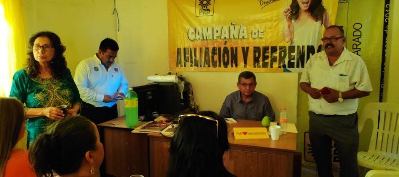 PROYECTA PRD AFILIAR A 7 MIL MILITANTES EN SINALOA