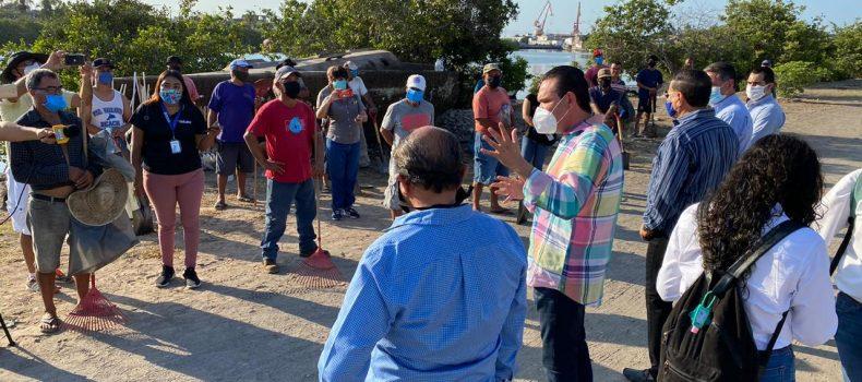 Inicia Sergio Torres Programa de Empleo Temporal para pescadores en la zona sur de Sinaloa