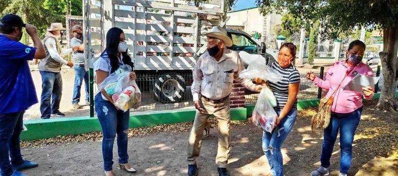 ENTREGA SECRETARÍA DE DESARROLLO SOCIAL DESPENSAS A INDÍGENAS DE ANGOSTURA