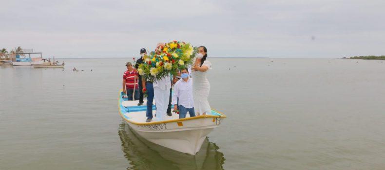Desángelada celebración del Día de la Marina en Angostura