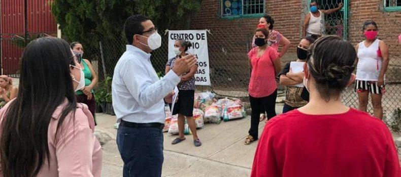 Beneficia PRI Sinaloa a sectores vulnerables con jornada alimenticia en apoyo a la economía y también de arborización.