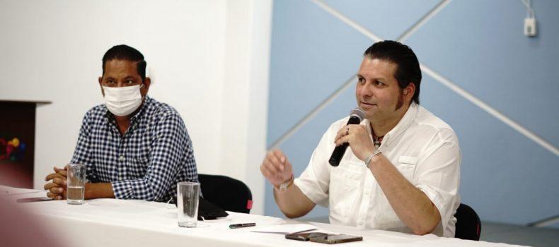 Alcalde y senador Mario Zamora buscan solución al conflicto de predios de familias de ferrocarrileros