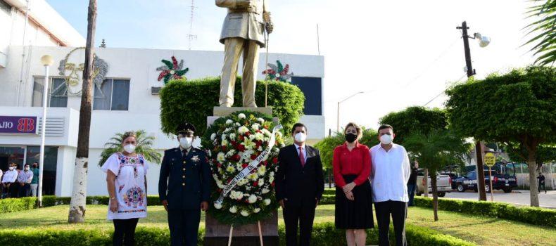 Conmemoran el aniversario de la Independencia y el natalicio del  General Salvador Alvarado