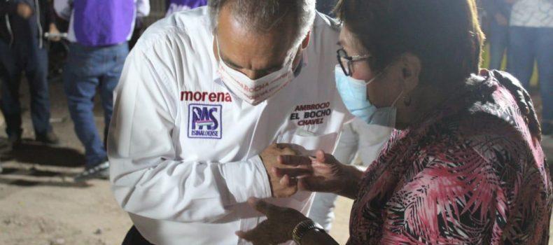 Con fe vecinos de la colonia Militar refrendan el voto a Morena para salir del olvido en que se encuentran.