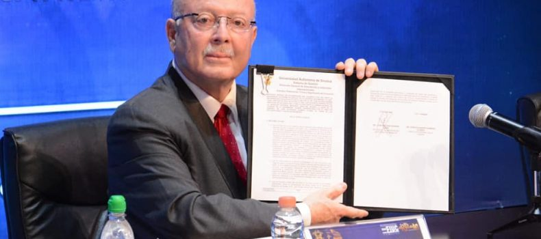 Firman UAS y CANIEM convenio de colaboración para fortalecer la vinculación científica, académica y cultural.