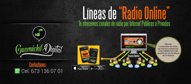Líneas de radio por Internet