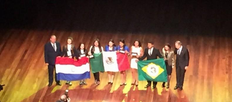 Ganan alumnas de COBAES Guasave tercer lugar en feria MOSTRATEC en Brasil.