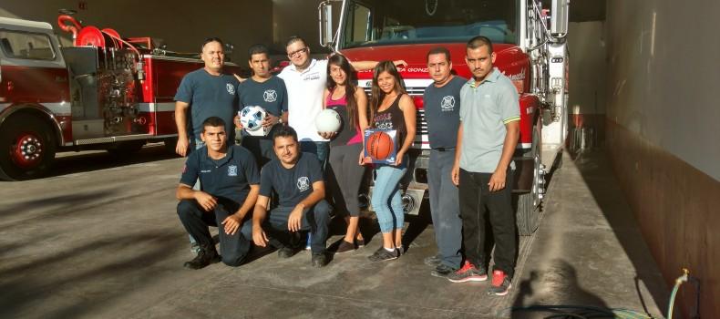 Bomberos de Guamúchil reciben material deportivo