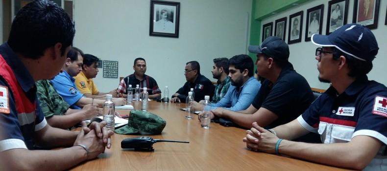 Establece reunión el Consejo Municipal de Protección Civil de Salvador Alvarado