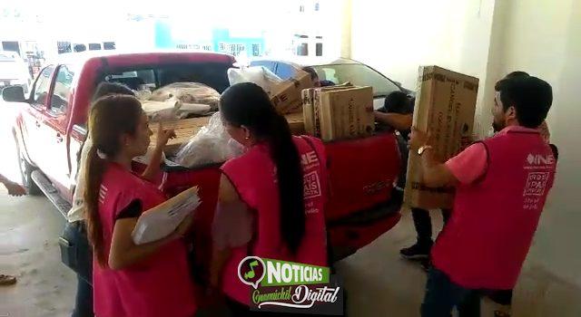 INICIA INE REPARTO DE PAQUETES ELECTORALES EN LOS DISTRITOS 03 FEDERAL Y 09 LOCAL