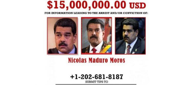 EU acusa a Maduro de narcoterrorismo y ofrece recompensa de 15 mdd por su captura