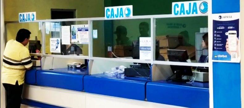 POR COVID-19 CAEN INGRESOS POR COBRO DEL SERVICIO  DE AGUA EN JAPASA