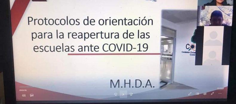 LA UAS Y COEPRISS ORIENTAN PROTOCOLOS PARA REAPERTURA DE ESCUELAS ANTE COVID-19 EN LA UAP CASA BLANCA URCNGUASAVE/SIN.