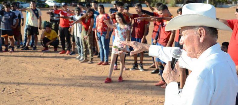 El Profe Mayke encabeza la inauguración  del Torneo de Futbol Local Libre y Veteranos 2021 en el Puerto La Reforma.