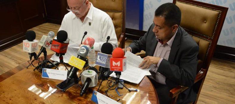 Signan UAS y el IMSS convenio financiero para normalizar situación de 550 trabajadores universitarios.