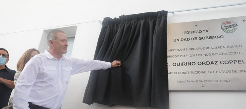 *Inaugura Quirino el nuevo edificio de Gobierno del Estado*.