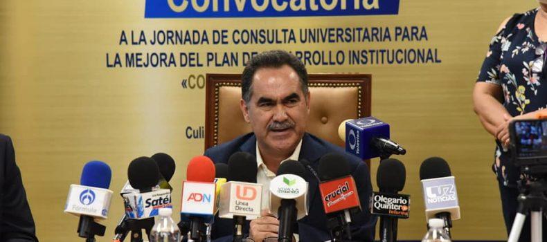Abre la UAS participación en Jornada de Consulta Universitaria para la mejora del Plan de Desarrollo Institucional.