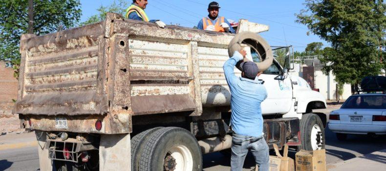 Arranca programa de descacharrización en Salvador Alvarado.