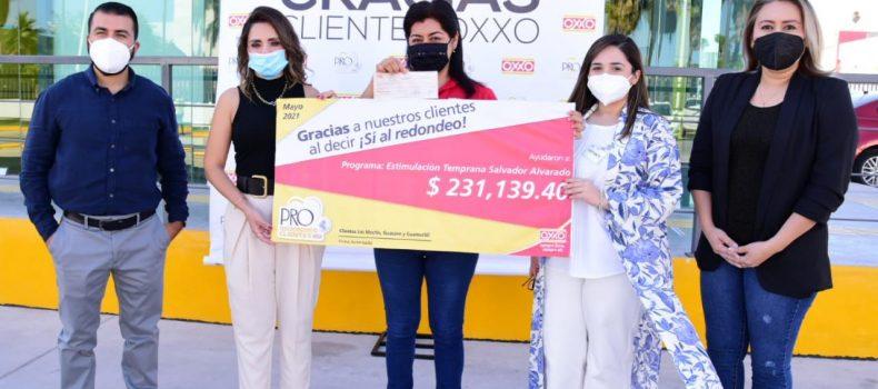 Clientes OXXO favorecen a DIF con apoyo de 231 mil 139.40 pesos.