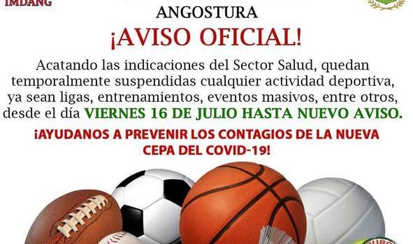 Anuncia Ayuntamiento de Angostura medidas de restricción durante el periodo vacacional.