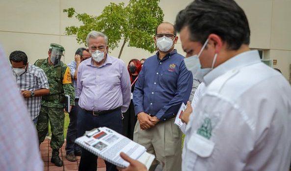 Rubén Rocha Moya se integra a estrategias de Salud contra Covid-19.