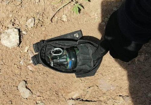 Tras persecución, Grupo Élite de la Policía Estatal Preventiva asegura granada de fragmentación.