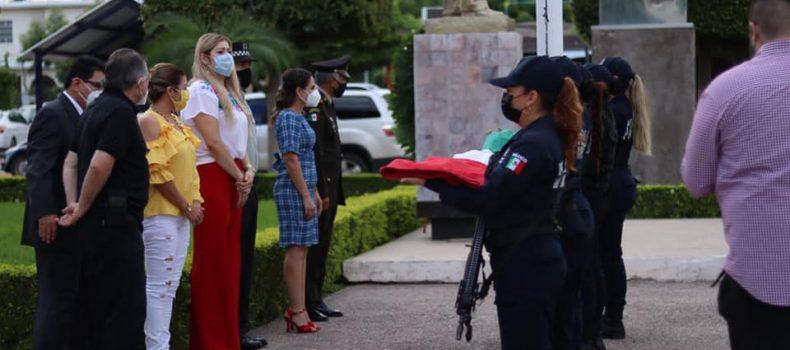Alcaldesa Pier Angely Camacho Montoya encabeza la conmemoración del Día Independencia.
