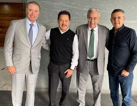 Gestionan Rocha y Quirino con titular de Segob recursos para cierre de año en Sinaloa.